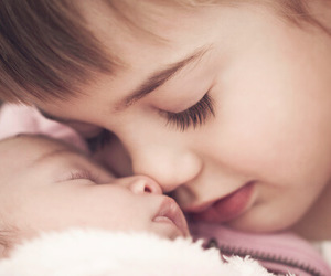 adorable, infant, and sister image