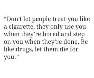 drugs, quotes, and cigarette image