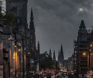 city, street, and edinburgh image