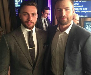 chris evans and aaron taylor-johnson image