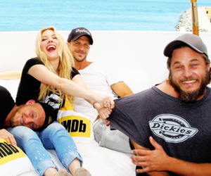 travis fimmel, gustaf skarsgård, and katheryn winnick image