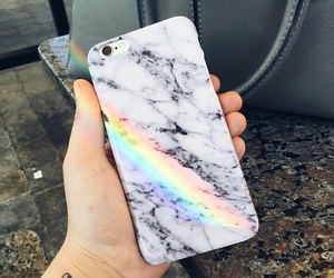 iphone, rainbow, and case image