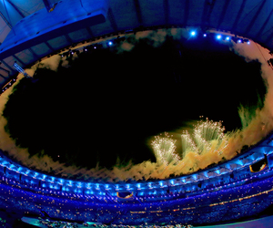 brazil, fireworks, and olympics image