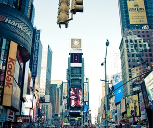 new york city, times square, and usa image