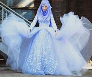 hijab, islam, and dress image