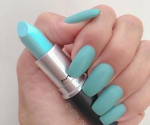 nails, lipstick, and mac image