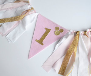 etsy, pink and black, and 1st birthday image