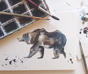 art, bear, and painting image