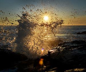 sun, water, and sea image
