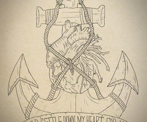 anchor, heart, and tattoo image