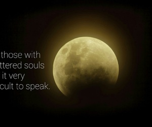 black, moon, and quote image