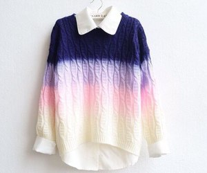 fashion, gradiant, and sweater image