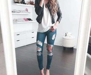 casual, high heels, and jeans image