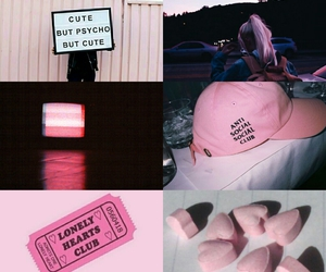 aesthetic, Collage, and lonely hearts club image