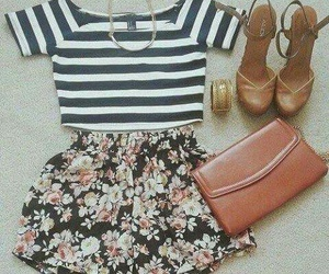 conjunto, outfit, and rayas image