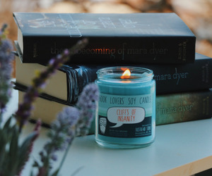 books and candle image