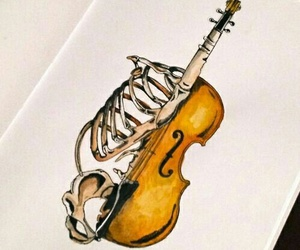 violin, music, and drawing image