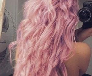 hair, pink, and long image