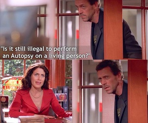 cuddy, dr house, and lol image