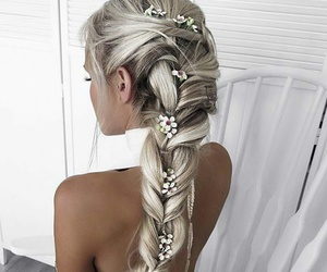 blondie, flowers, and braid image