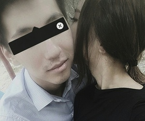 asian, couple, and pale image