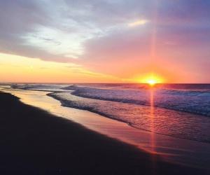beach, nature, and neon image