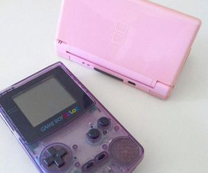 consoles, game boy, and gaming image