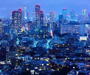 blue, night, and buildings image