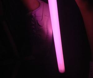 girl, legs, and lights image
