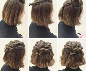 hair, hairstyle, and short image