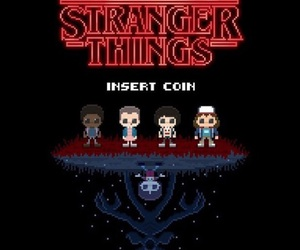 stranger things, eleven, and game image