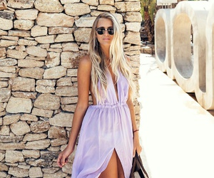 dress, summer, and Flowy image