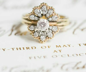 ring, vintage, and jewel image