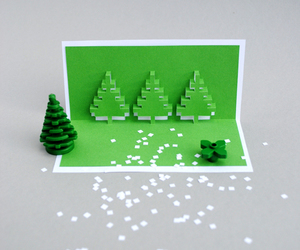 tutorial, kirigami, and christmas popup cards image
