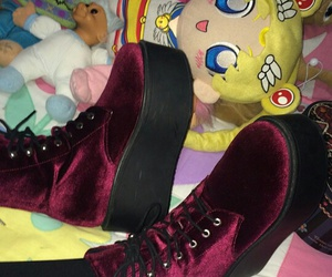red, sailor moon, and shoes image