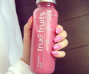 pink, fruit, and drink image