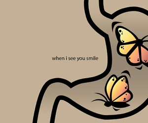 love, butterfly, and smile image