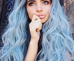blue hair and color eyes image