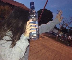 girl, tumblr, and vodka image