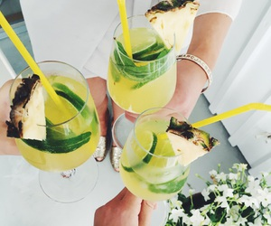 drink, green, and theme image