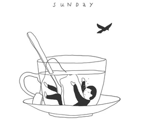 art, Sunday, and tea image