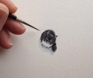 cat, art, and cute image