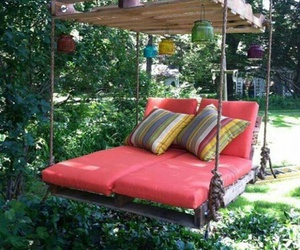 bed, diy, and nature image