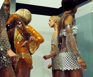 mini dress, television, and paco rabanne image