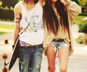 cool, couple, and skate image