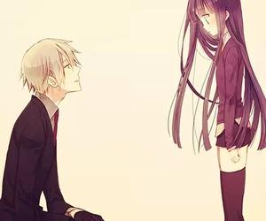 anime, couple, and inu x boku ss image