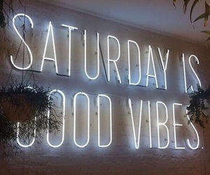 saturday, weekend, and neon image