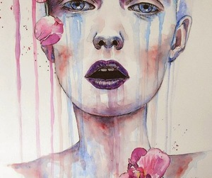 flowers, watercolor, and art image