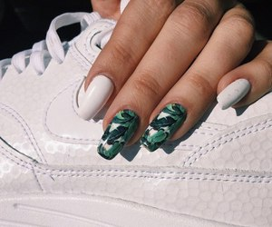 nails, nike, and white image