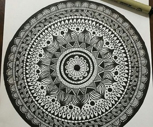 mandala, zentangle, and mandala art image
